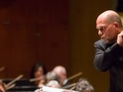 Yuja Wang performs with the New York Philharmonic with conductor Jaap van Zweden at Avery Fisher Hall, 4/12/12. Photo by Chris Lee