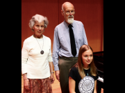 Scottish International Youth Piano competition JUNIOR SECTION Katy Watters (left) 3rd prize; Yu Lin Liu 2nd prize; Rose McLachlan (right)1st prize credit Aaron Shorr
