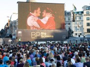 BP Big Screen TOSCA live from the  Royal Opera House  Trafalgar Square, London, Great Britain   living streaming of Tosca  with additional live interviews both in Trafalgar Sq and at the Royal Opera House  18th July 2013    Photograph by Elliott Franks   Tel 07802 537 220  elliott@elliottfranks.com  2013©Elliott Franks