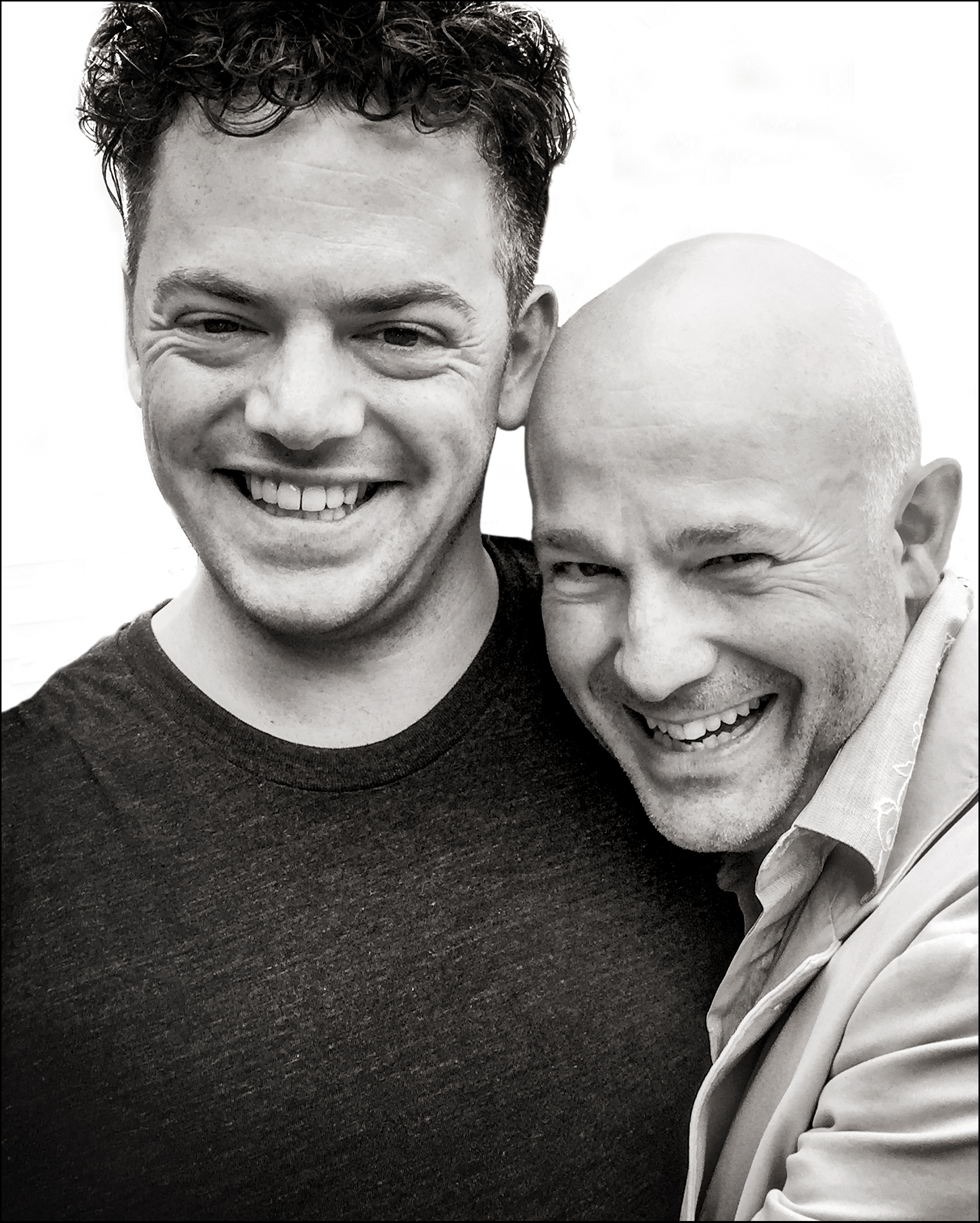 Good friends: Nico Muhly with Charles Owen