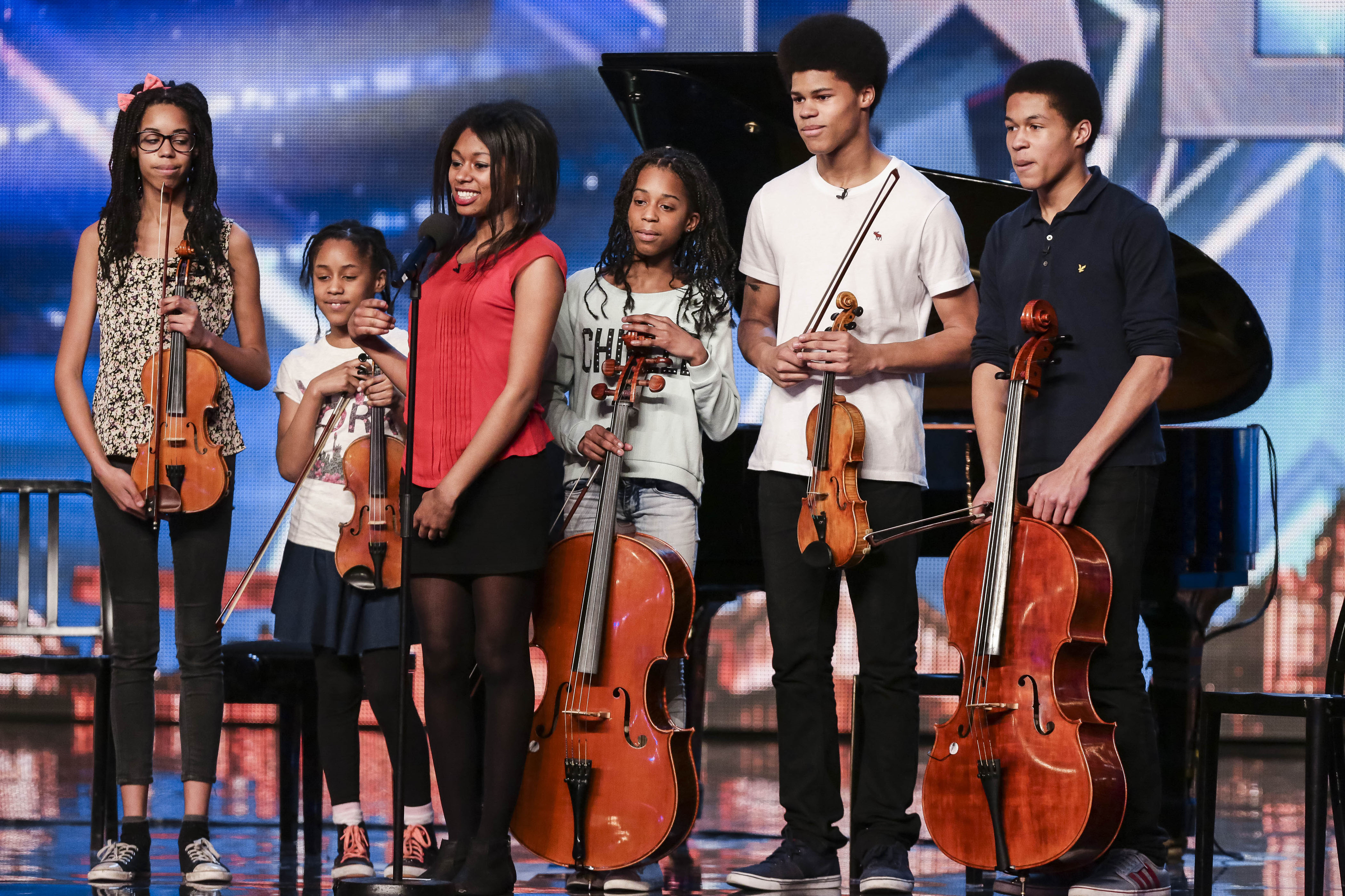 The Kanneh-Masons at the Britain's Got Talent semifinal in 2015
