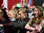 Garsington Opera for All Young people  taking part in a workshop prior to screening of an opera