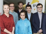 The seven winners young composers chosen by a panel of judges from Classic FM and the Royal Philharmonic Society to write a new piece of classical music each to celebrate the radio station's 25th birthday.
