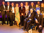 John Gilhooly, RPS Chairman - centre - with Winners of the RPS Music Awards 2017 - photo credit Simon Jay Price  nb - minus Manchester Camerata - Copy