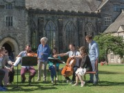Judith Weir, Heath Quartet, and Advanced composition students (Terry Jeavons)
