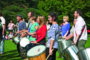 The samba band on the Great Lawn Photo: Alice Carfrae