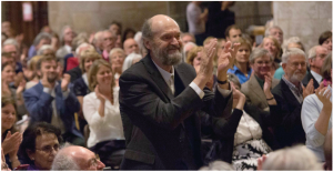 Arvo Pärt taking the applause in Tewkesbury Abbey, Cheltenham Music Festival, July 2014 Photo: © Stillmovingmedia.co.uk
