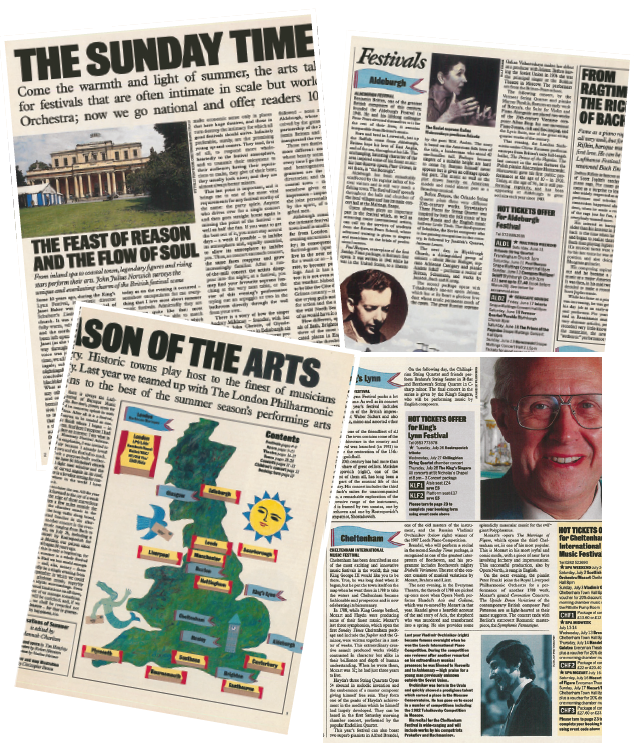 Those were the days: The Sunday Times' celebration of British Arts Festivals in 1988