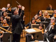 Alan Gilbert conducts the New York Philharmonic in in All Nielsen program at Avery Fisher Hall, 9/23/14. Photo by Chris Lee