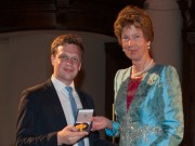 Thomas Gaynor receiving the Interpretation Prize