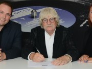 Karl Jenkins signing with Rebecca Allen and Alex Buhr - credit Dominic Nicholls