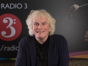EDITORIAL USE ONLY Sir Simon Rattle launches the BBC Radio 3 exhibition 'Rattle at Radio 3' at the Barbican Centre in London, which features archive audio and visual material of Sir Simon Rattle conducting orchestras and giving historic interviews. PRESS ASSOCIATION. Picture date: Wednesday September 13 2017. The unique display will allow audiences to take a look at the technology behind live broadcasting, as well as try interactive elements such as booking slots with a Radio 3 sound engineer, learning the basics of mixing a symphony orchestra ready for broadcast and try their hand at being a presenter. The exhibition runs from the 14th to 21st of September. Photo credit should read: David Parry/PA Wire