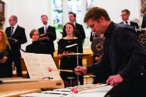 The choir's 'Open Secret' concert included specially commissioned percussion to link works by Tavener, Pärt and and Górecki