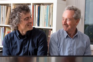 Top team: Paul Lewis with Adam Gatehouse, co-artistic director of the Leeds © Simon Jay Price