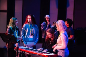 Urban Development students in a BBC 1xtra live session