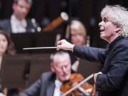 Sir Simon Rattle conducts the London Symphony Orchestra playing  Das Paradies Und Die Peri by Schumann @ Barbican Hall. (Opening 11-01-15) ©Tristram Kenton 01/15 (3 Raveley Street, LONDON NW5 2HX TEL 0207 267 5550  Mob 07973 617 355)email: tristram@tristramkenton.com
