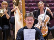 Notes From Scotland RSNO composer competition for 12-18 year olds. Pictured Winner Alexander Papp 16 from Bedford    Photograph by Martin Shields  Tel 07572 457000 www.martinshields.com © Martin Shields