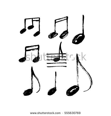 Stock Vector Vector Set Of Hand Drawn Music Notes 555630769 Rhinegold