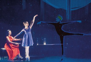 Dariescu performs The Nutcracker and I with ballerina Désirée Ballantyne - © NIGEL NORRINGTON