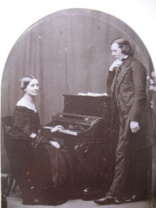 Musical marriage: Clara with her husband Robert Schumann (1810-1856)