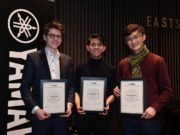 Yamaha Music Foundation of Europe 2020 Scholarship winners Jonas Stark, George Harliano and Bocheng Wang